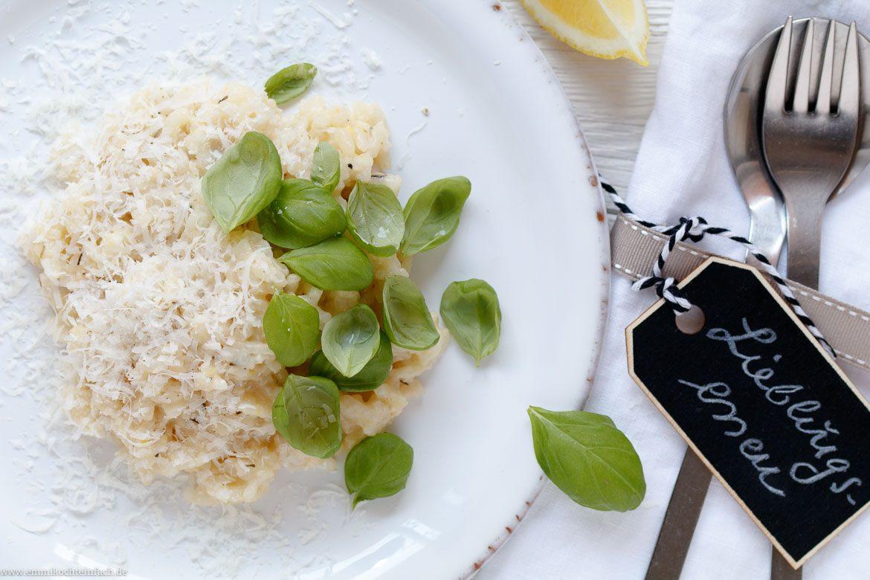 Ofenrisotto mit Zitrone Basilikum und Thymian - www.emmikochteinfach.de