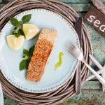 Asiatisches Lachsfilet mit Wasabi und Sesam - www.emmikochteinfach.de