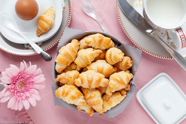 Mini Frischkäse Hörnchen Mit Käse Und Schinken Emmikochteinfach