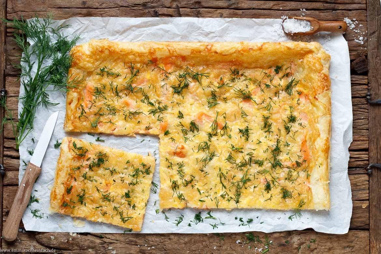 Blätterteigpizza mit Rächerlachs - www.emmikochteinfach.de