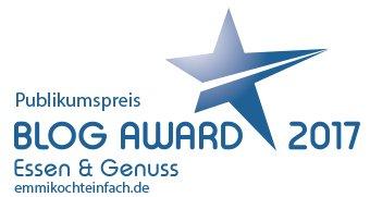 Blog Award 2017 Publikumspreis - www.emmikochteinfach.de
