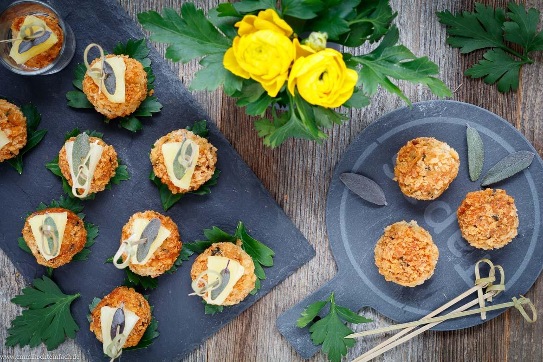 Curry Hähnchen Bällchen - schnelles Fingerfood - emmikochteinfach