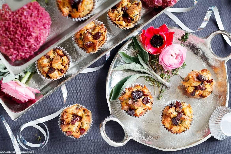 Mini Chiabatta Muffins mit Pancetta und Cranberries - www.emmikochteinfach.de