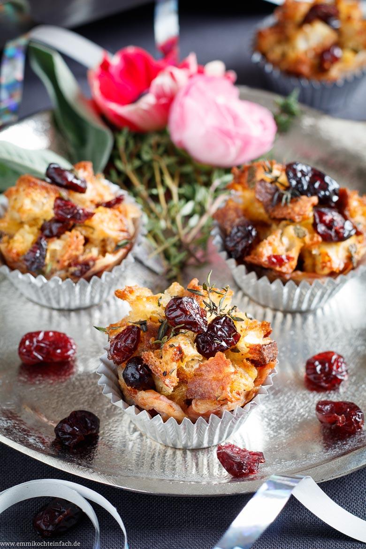 Mini Chiabatta Muffins mit Pancetta und Cranberrys - www.emmikochteinfach.de