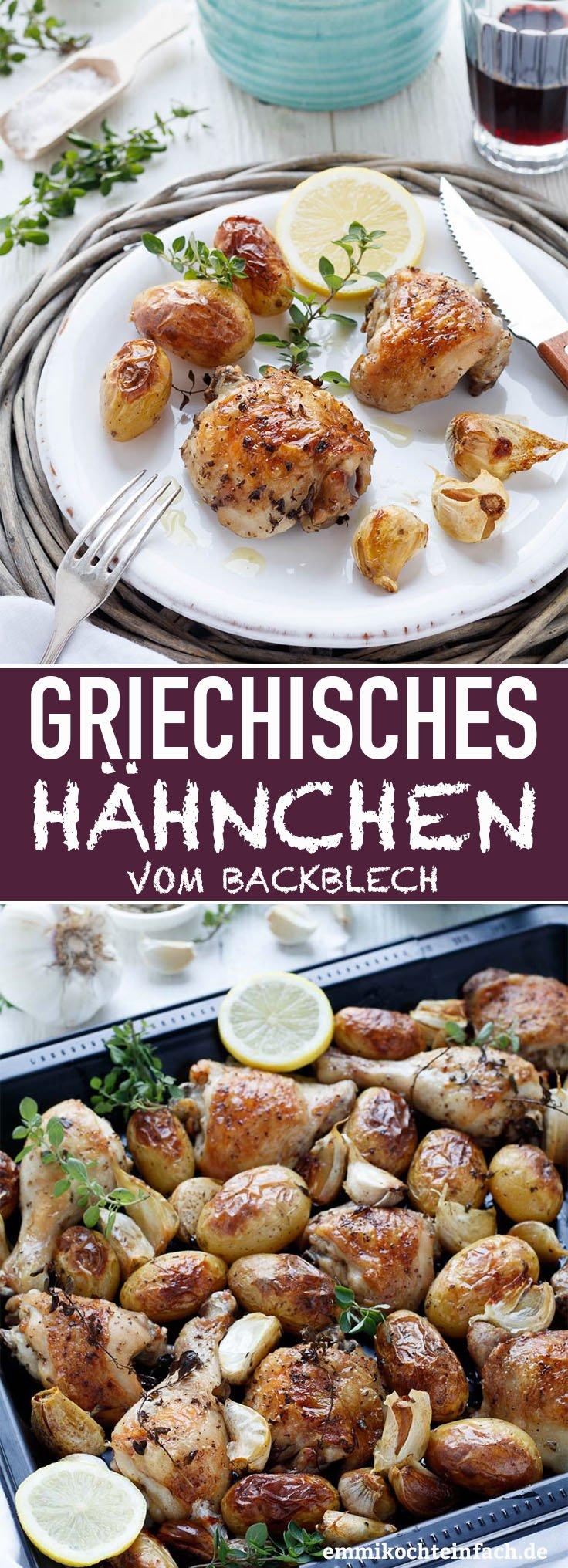 Griechisches Hähnchen vom Blech - www.emmikochteinfach.de