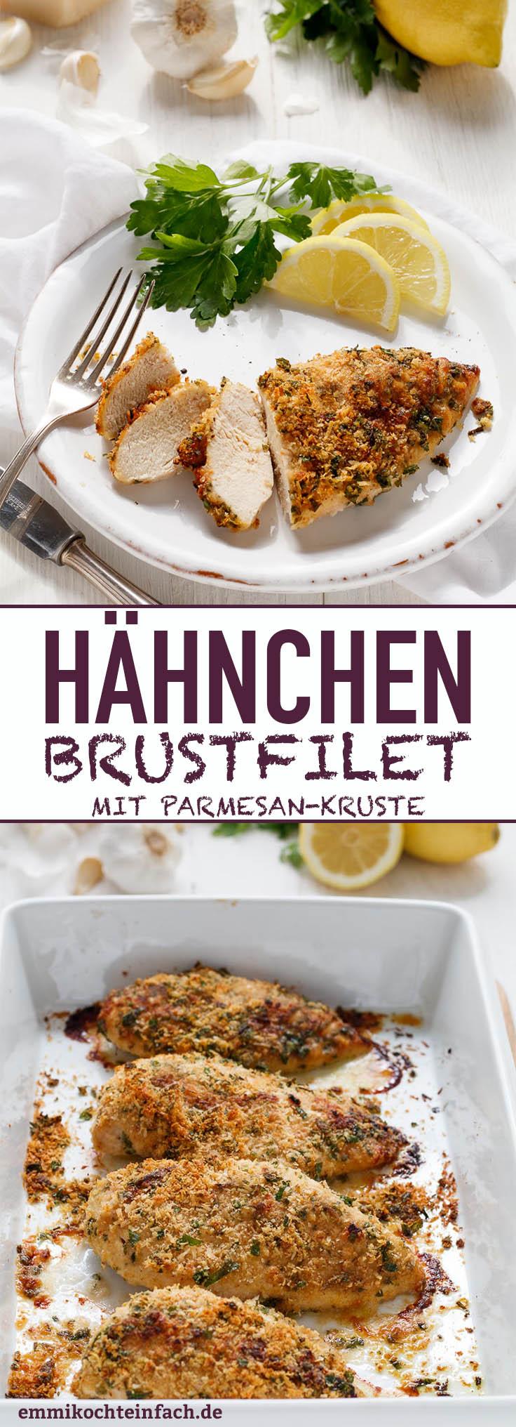 Hähnchenbrustfilet mit Parmesankruste - www.emmikochteinfach.de
