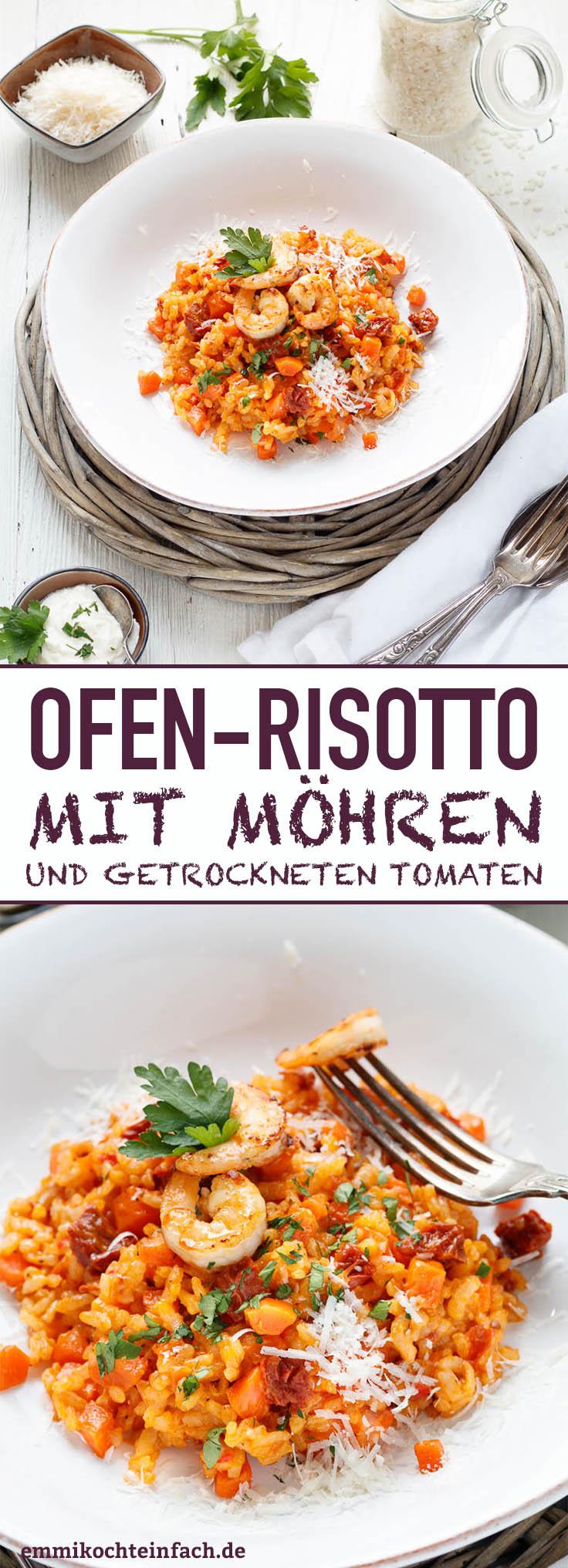 Ofenrisotto mit Möhren und getrockneten Tomaten - www.emmikochteinfach.de