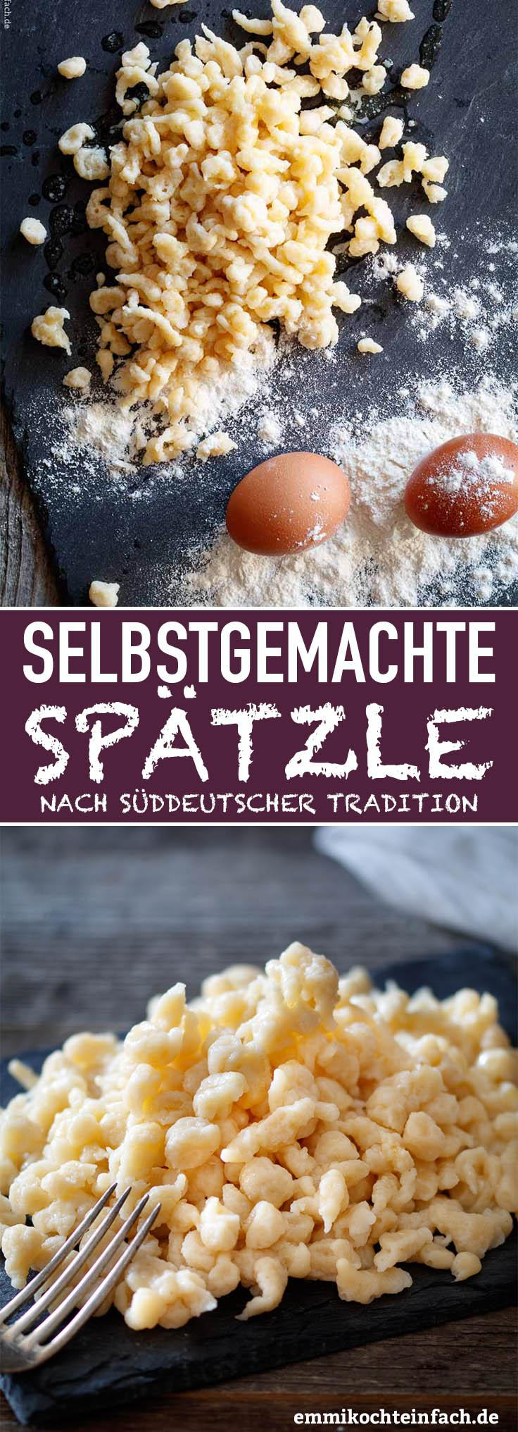 Omis selbstgemachte Spätzle - www.emmikochteinfach.de