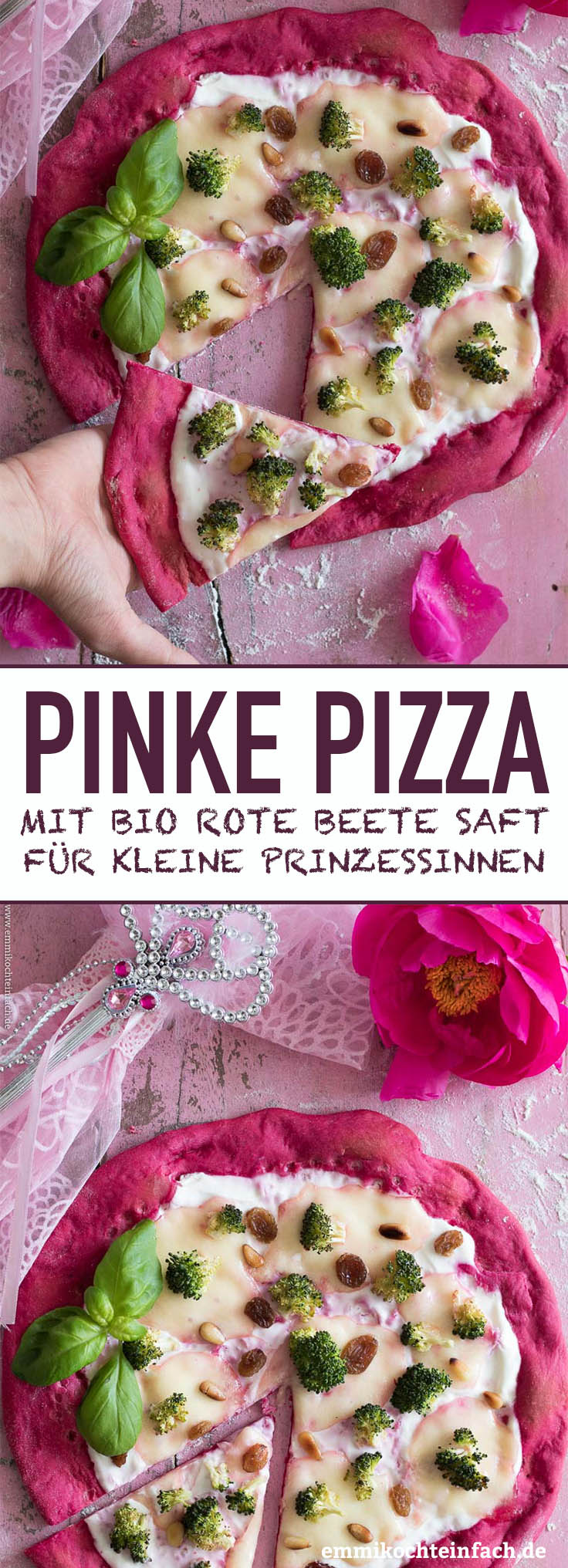 Pizza Principessa - Die Pinke Pizza - www.emmikochteinfach.de
