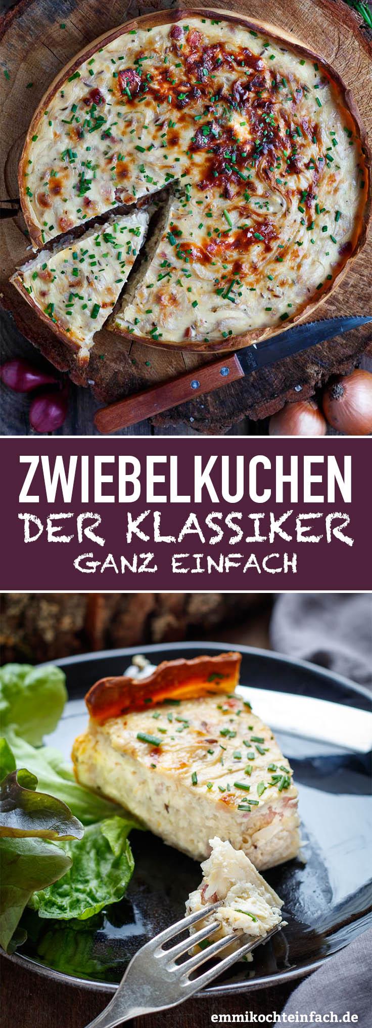 Einfacher Zwiebelkuchen - www.emmikochteinfach.de