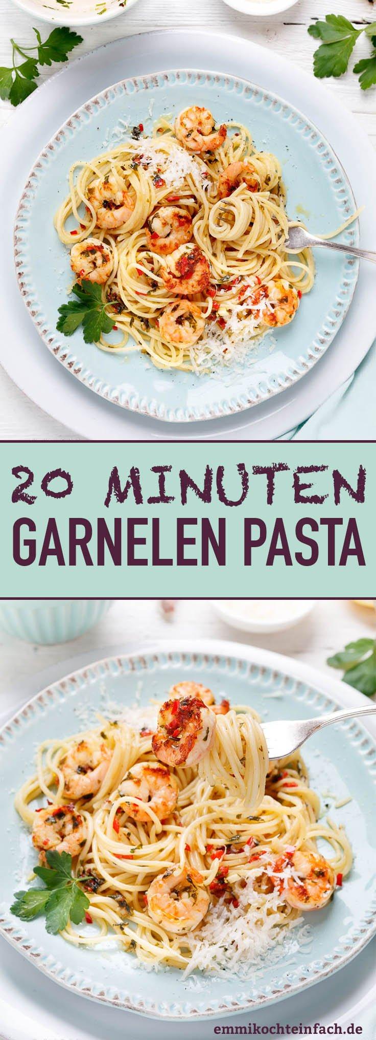20-Minuten Garnelen Pasta - www.emmikochteinfach.de