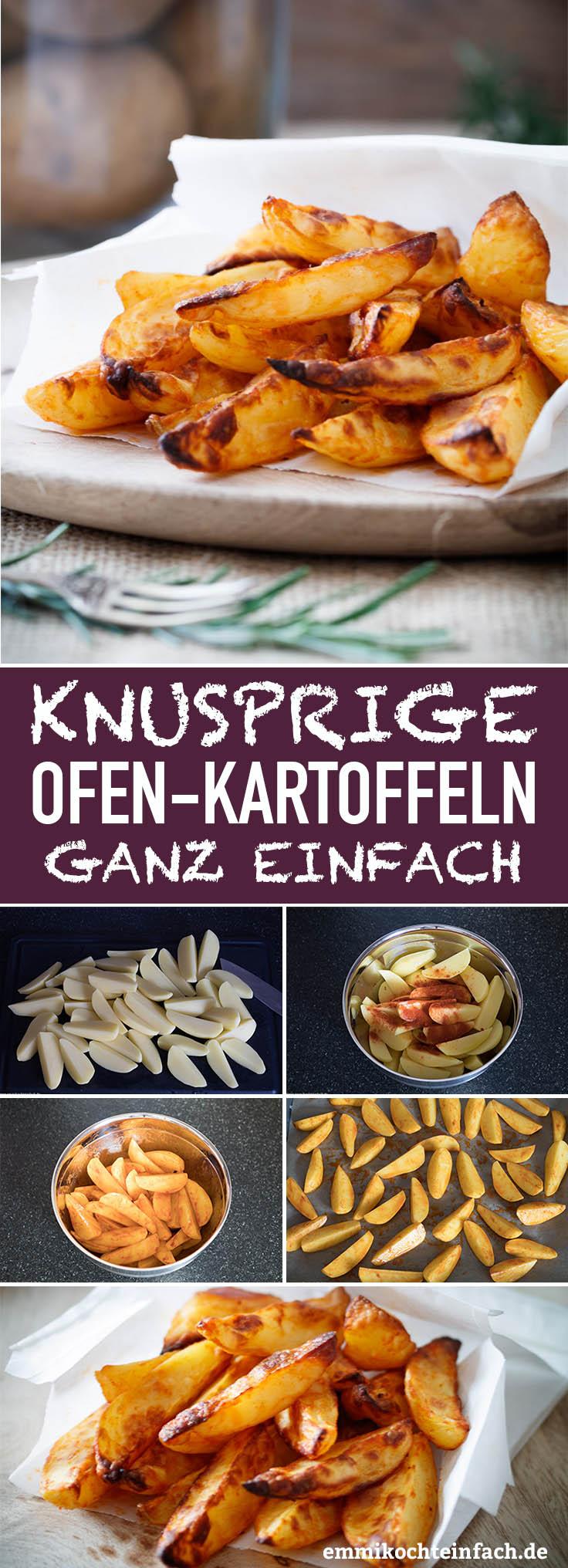Knusprige Ofenkartoffeln - www.emmikochteinfach.de