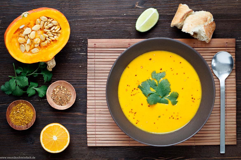 kürbis ingwer kokos suppe