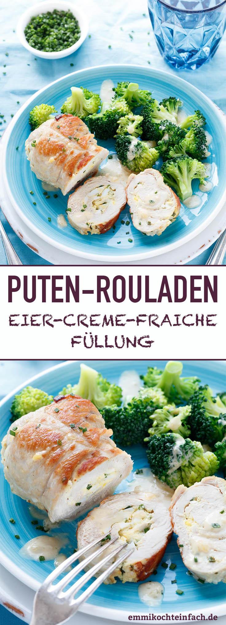 Putenrouladen mit Eier-Creme-Fraiche Füllung - www.emmikochteinfach.de
