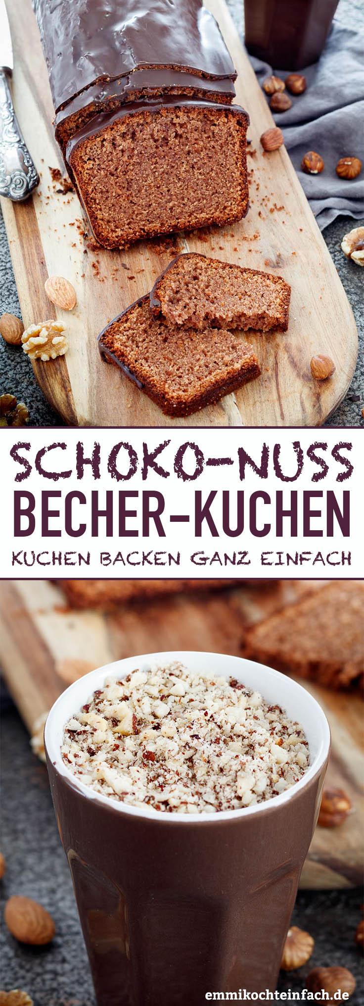 Schoko Nuss Becherkuchen - www.emmikochteinfach.de