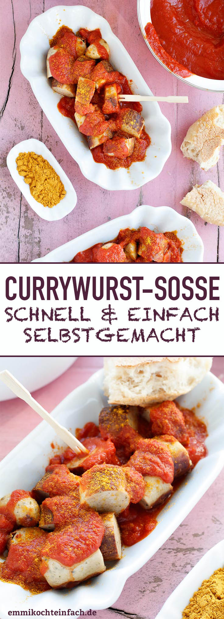 Currywurstsoße - einfach und schnell selbstgemacht - www.emmikochteinfach.de