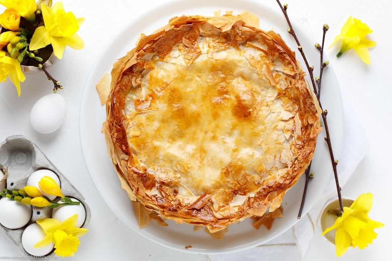 Herzhafte Torte mit Spinat und Ei-Nester - www.emmikochteinfach.de