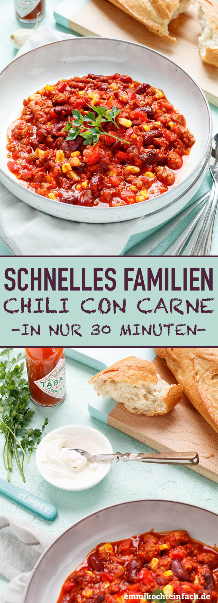 Schnelles Familien Chili con Carne - www.emmikochteinfach.de