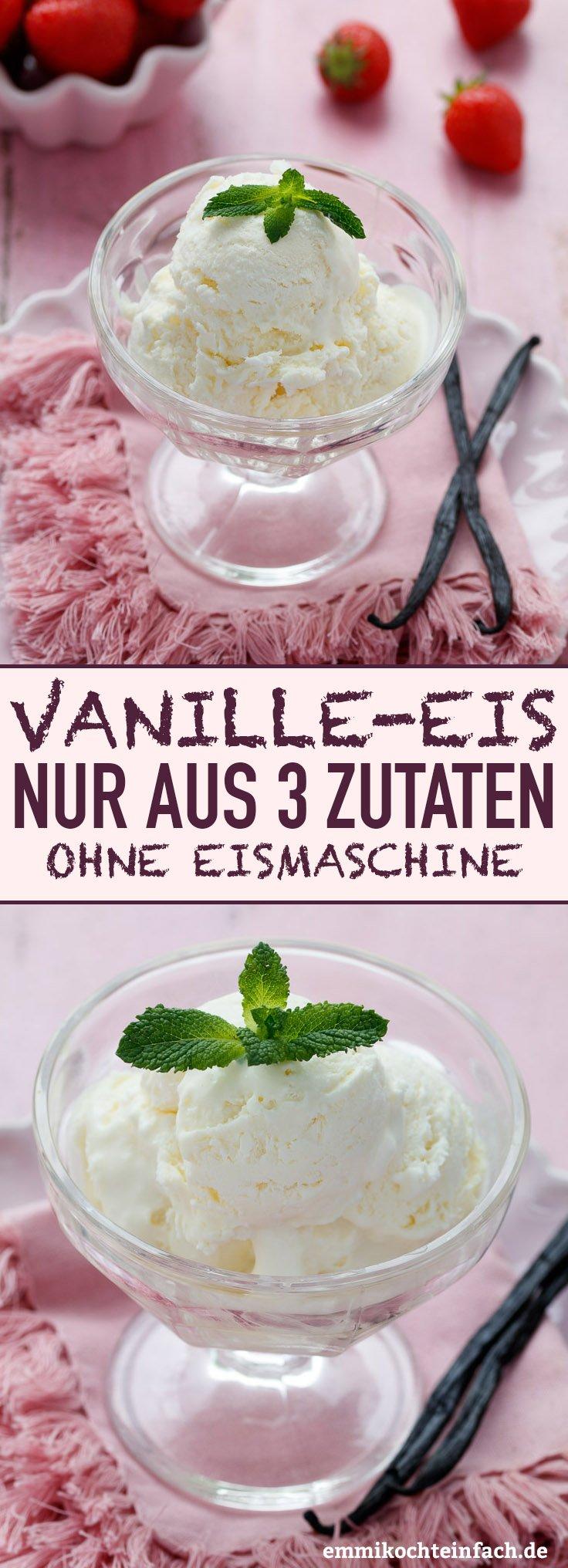 Vanilleeis ohne Eismaschine - www.emmikochteinfach.de