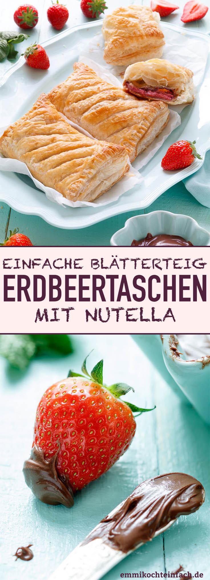 Erdbeertaschen mit Nutella - www.emmikochteinfach.de