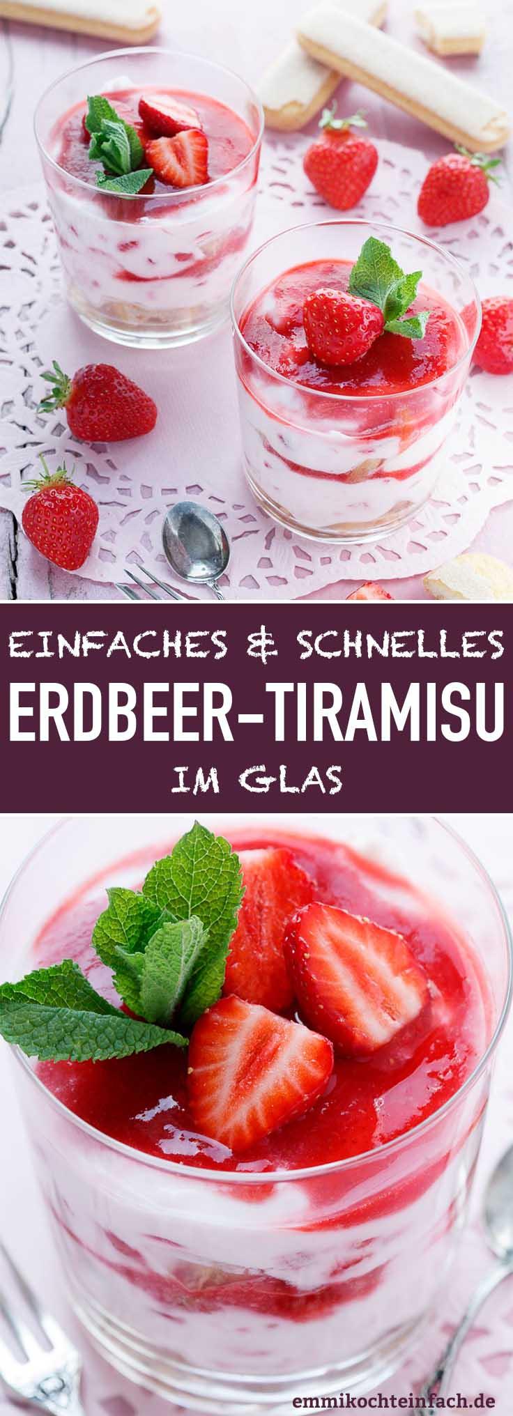 Erdbeer-Tiramisu im Glas - www.emmikochteinfach.de