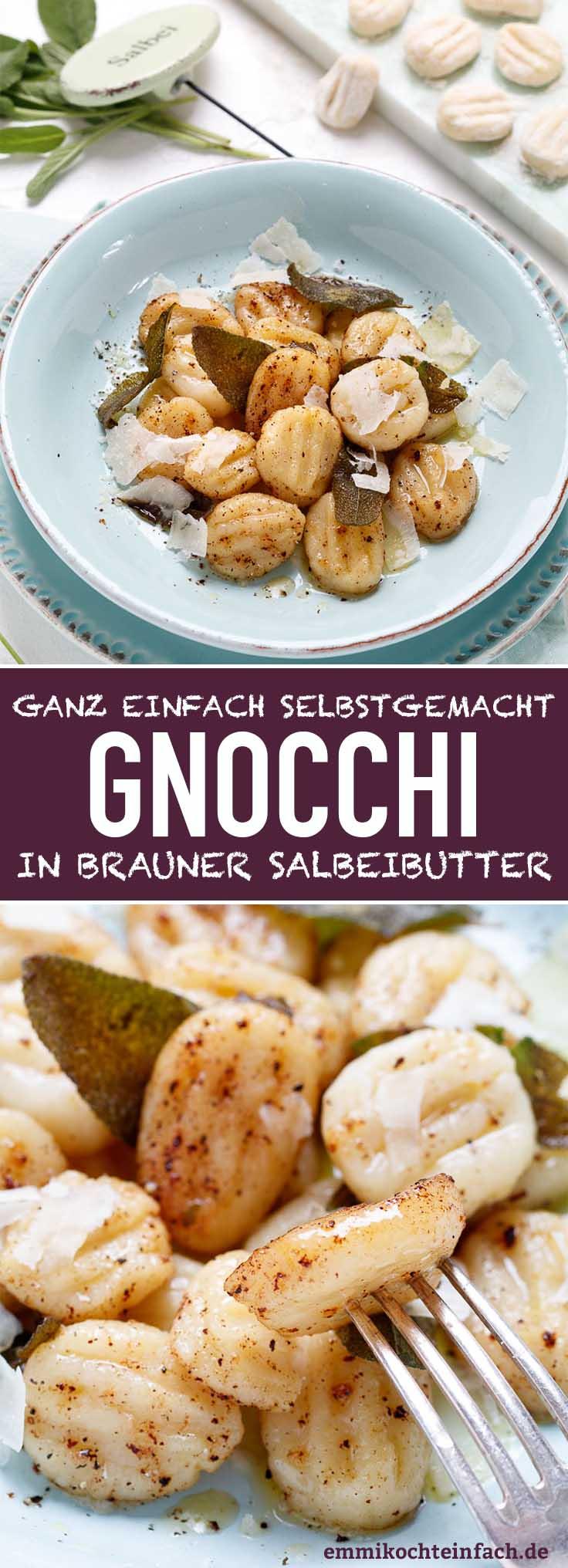 Gnocchi in brauner Salbeibutter - ganz einfach selbst gemacht - www.emmikochteinfach.de