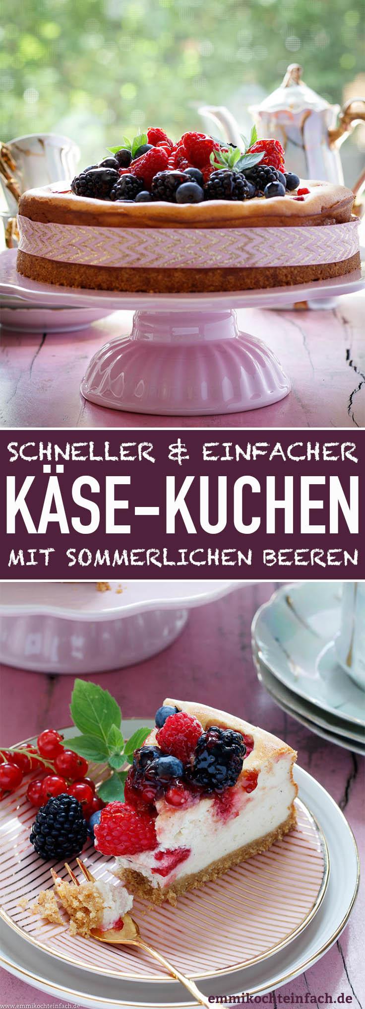 Sommerlicher Beeren-Käsekuchen - www.emmikochteinfach.de