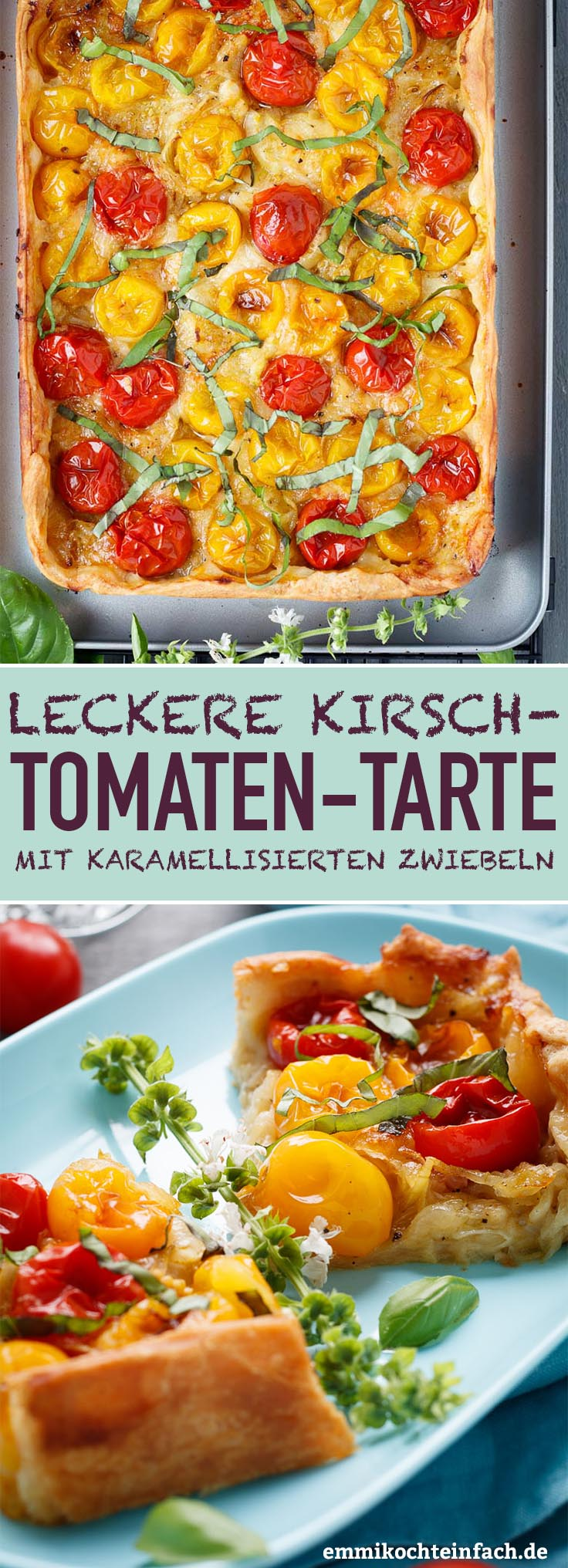 Kirschtomaten Tarte - www.emmikochteinfach.de