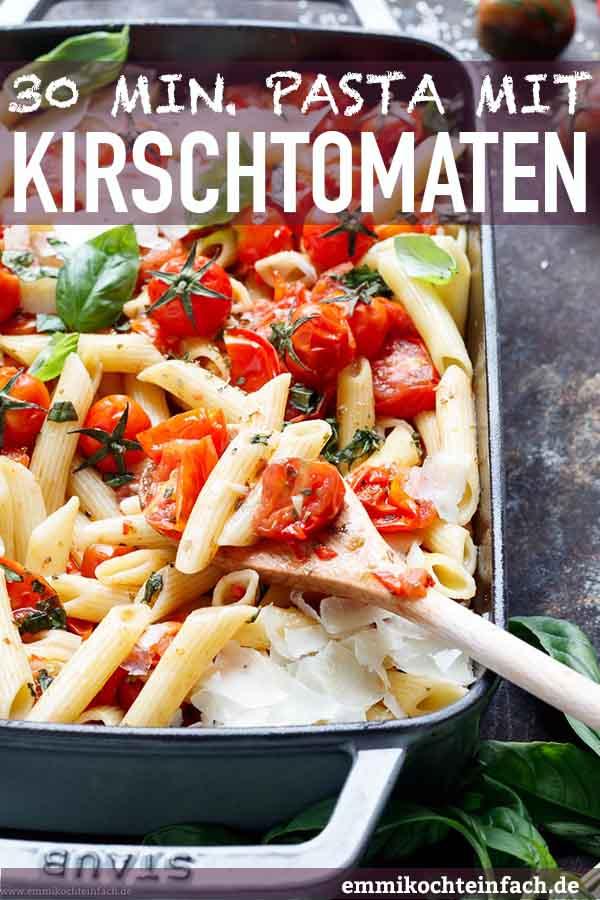 Pasta mit gegrillten Kirschtomaten und Pecorino - www.emmikochteinfach.de