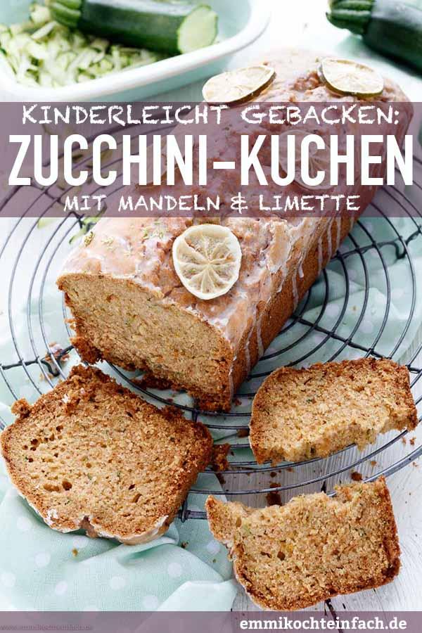Zucchini Kuchen mit Mandeln und Limette - www.emmikochteinfach.de
