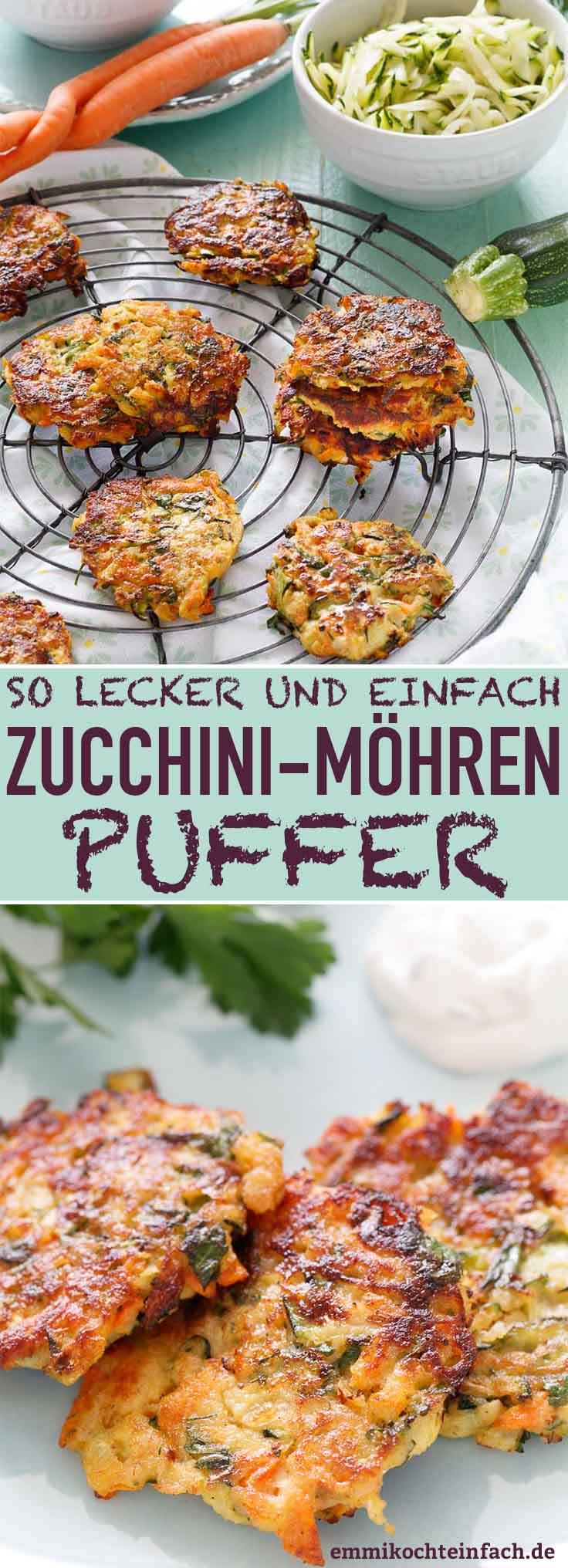 Zucchini Möhren Puffer - www.emmikochteinfach.de