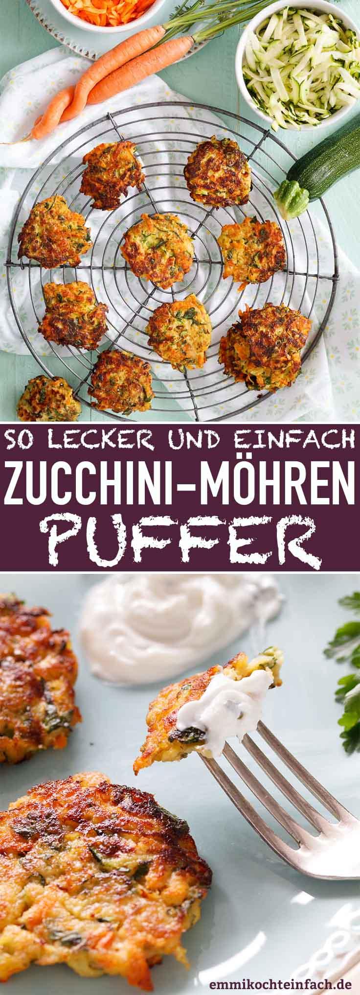 Zucchini-Möhren-Puffer - www.emmikochteinfach.de