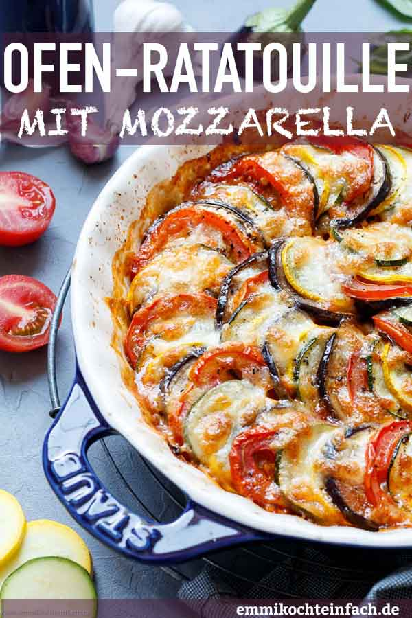 Ratatouille aus dem Ofen mit Mozzarella - www.emmikochteinfach.de