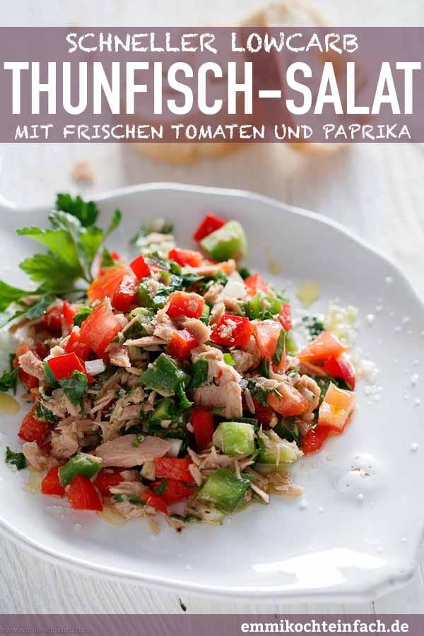 Thunfischsalat mit Tomaten und Paprika - www.emmikochteinfach.de