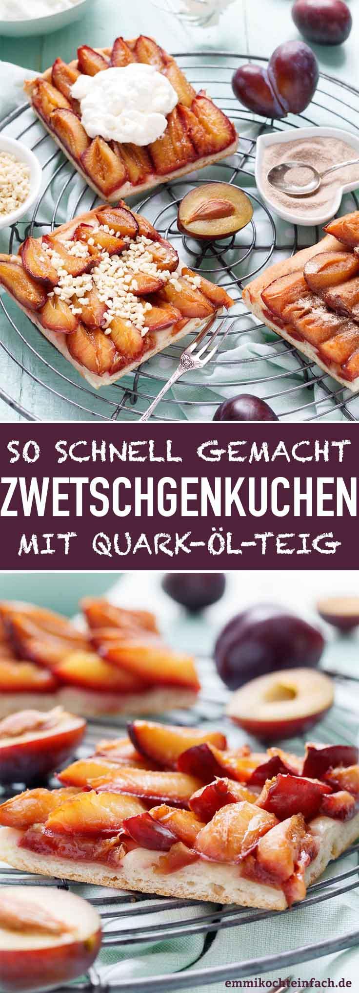 Schneller Zwetschgenkuchen mit Quark-Öl-Teig - www.emmikochteinfach.de