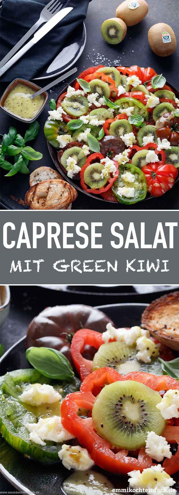 Caprese Salat mit Green Kiwi - www.emmikochteinfach.de
