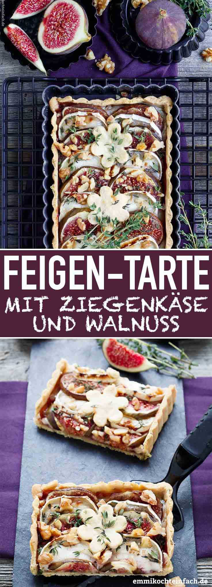 Feigentarte mit Ziegenkäse - www.emmikochteinfach.de