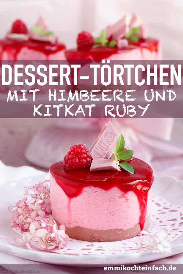 Himbeer-Dessert-Törtchen mit KitKat Ruby - www.emmikochteinfach.de
