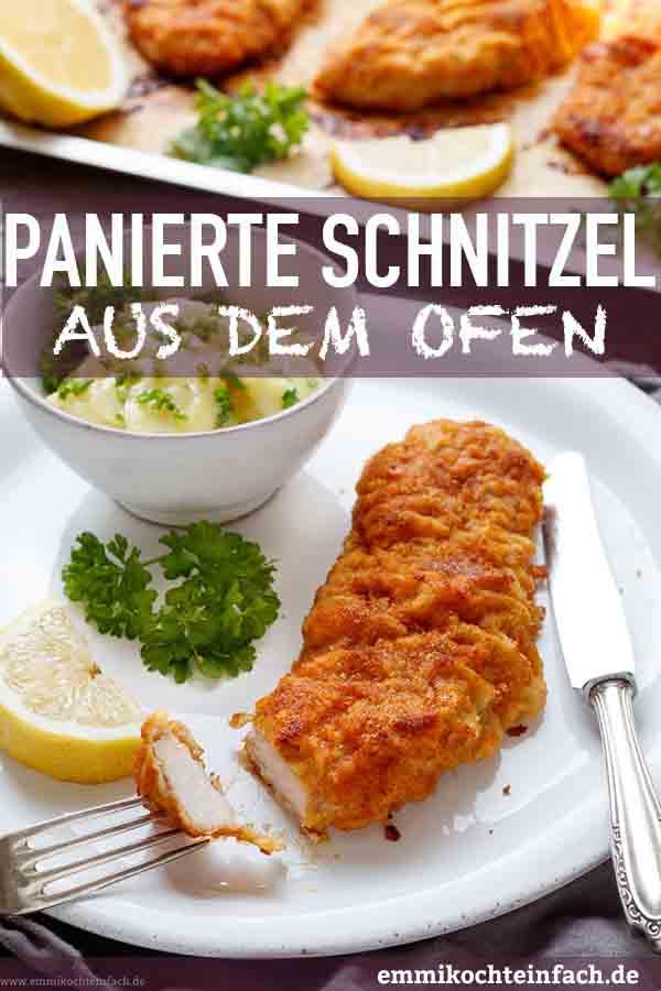 Panierte Schnitzel aus dem Ofen - www.emmikochteinfach.de