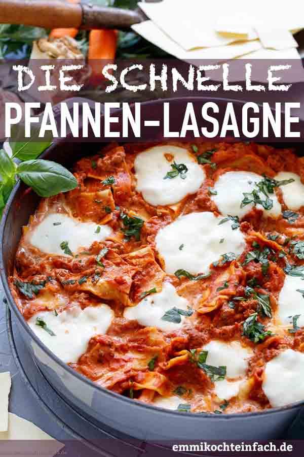 Schnelle Pfannen-Lasagne mit Trick-Bechamel - www.emmikochteinfach.de