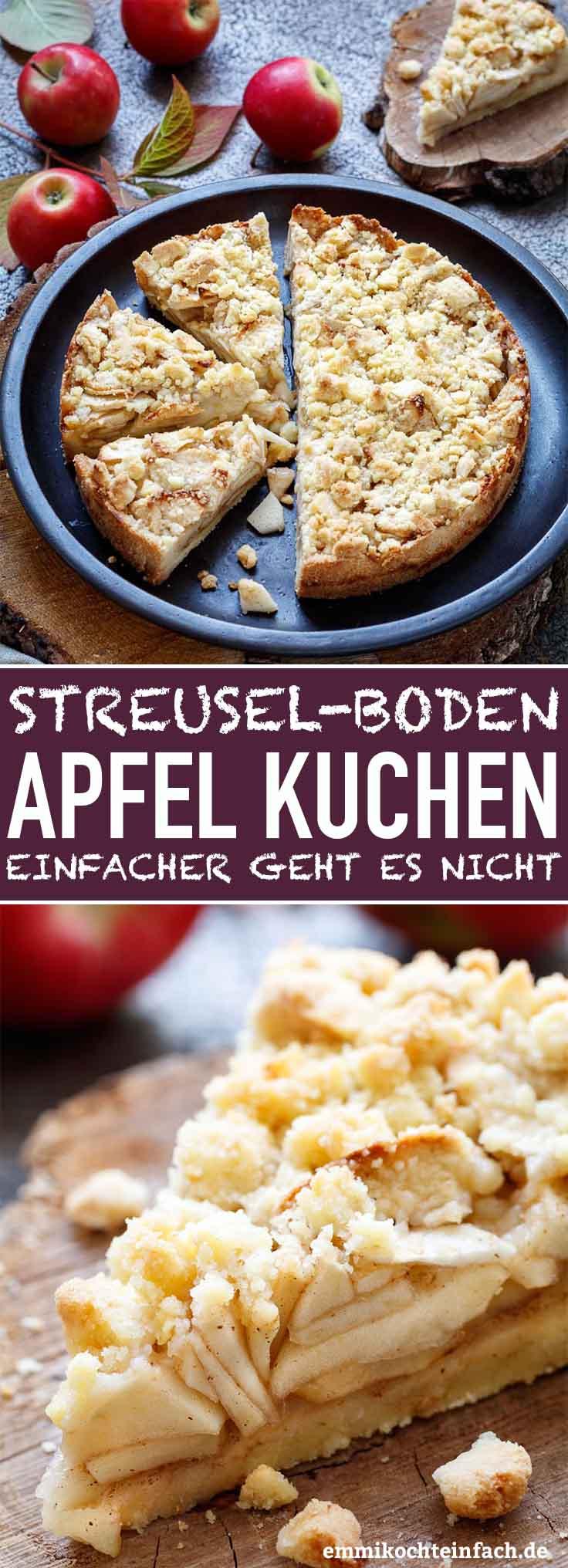 Streuselboden-Kuchen mit Apfel - www.emmikochteinfach.de