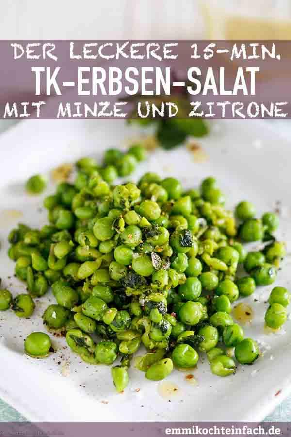 Erbsensalat mit Minze und Zitrone - www.emmikochteinfach.de