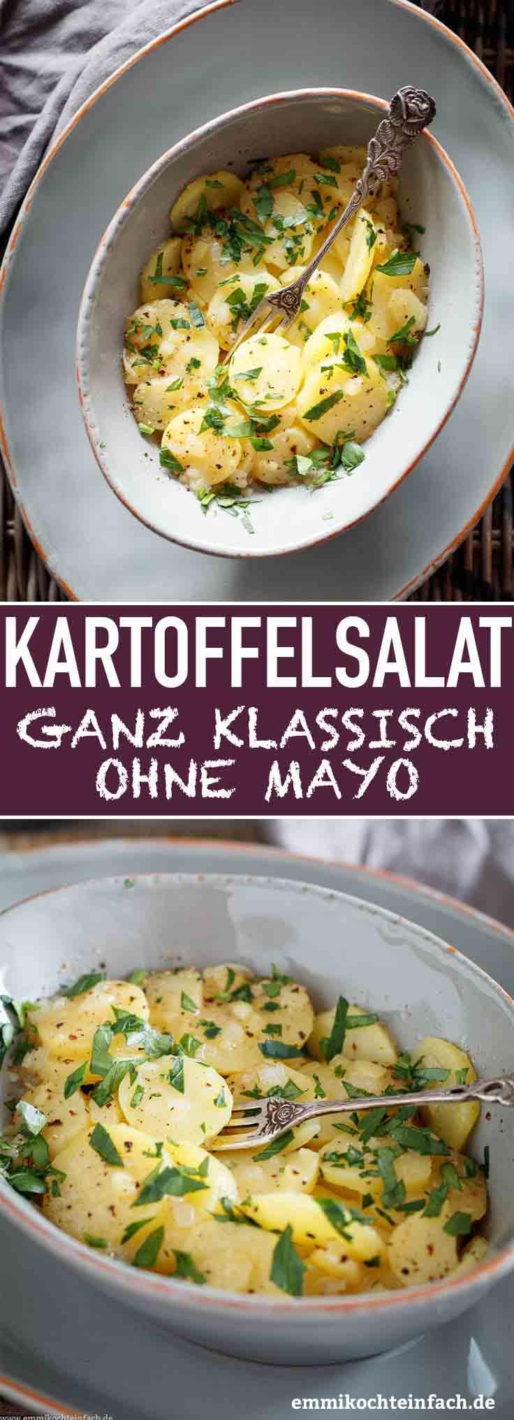 Klassischer Süddeutscher Kartoffelsalat - www.emmikochteinfach.de