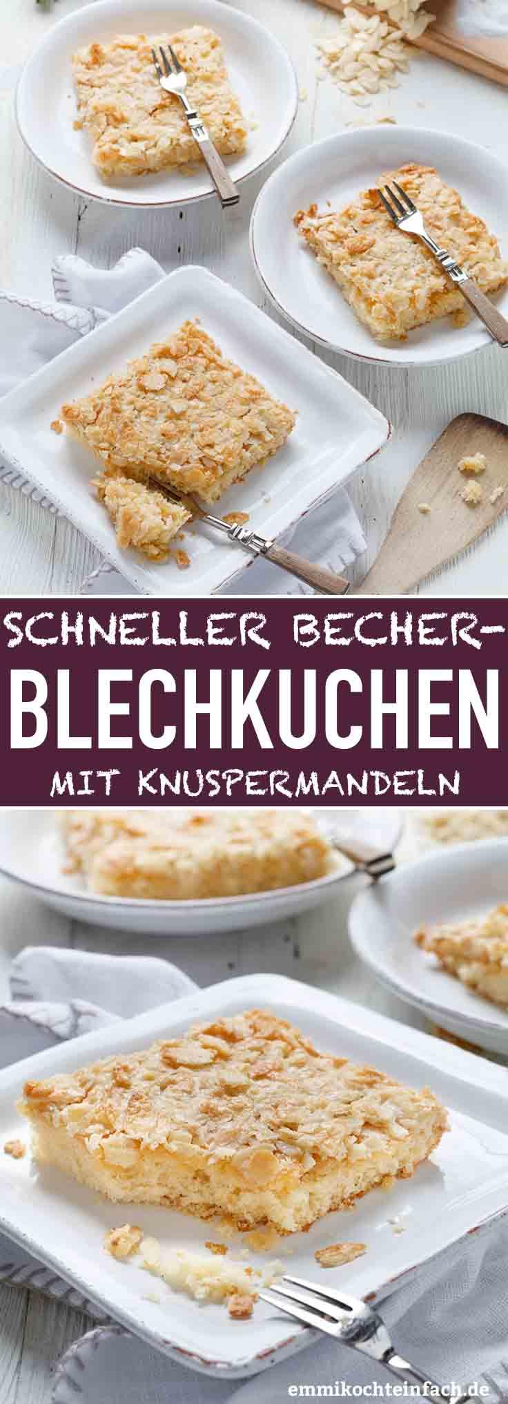 Schneller Becherkuchen mit Knuspermandeln - www.emmikochteinfach.de