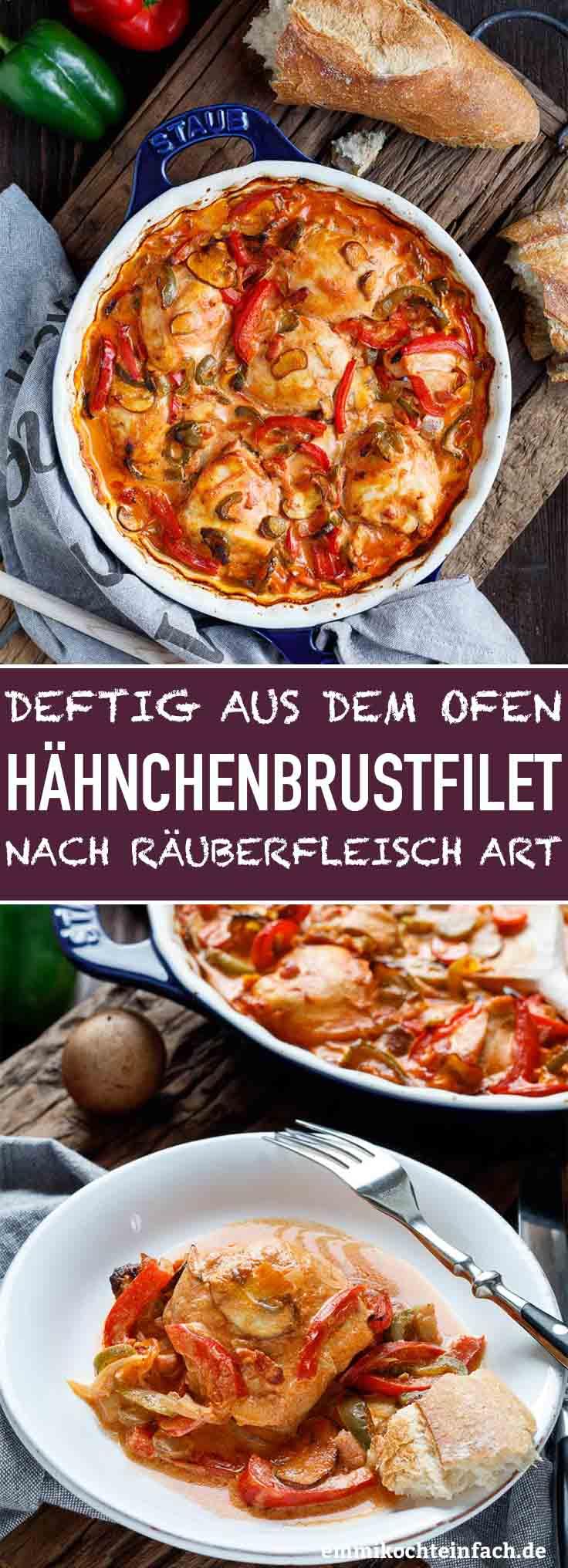 Deftige Hähnchenbrustfilets nach Räuberfleisch Art - www.emmikochteinfach.de