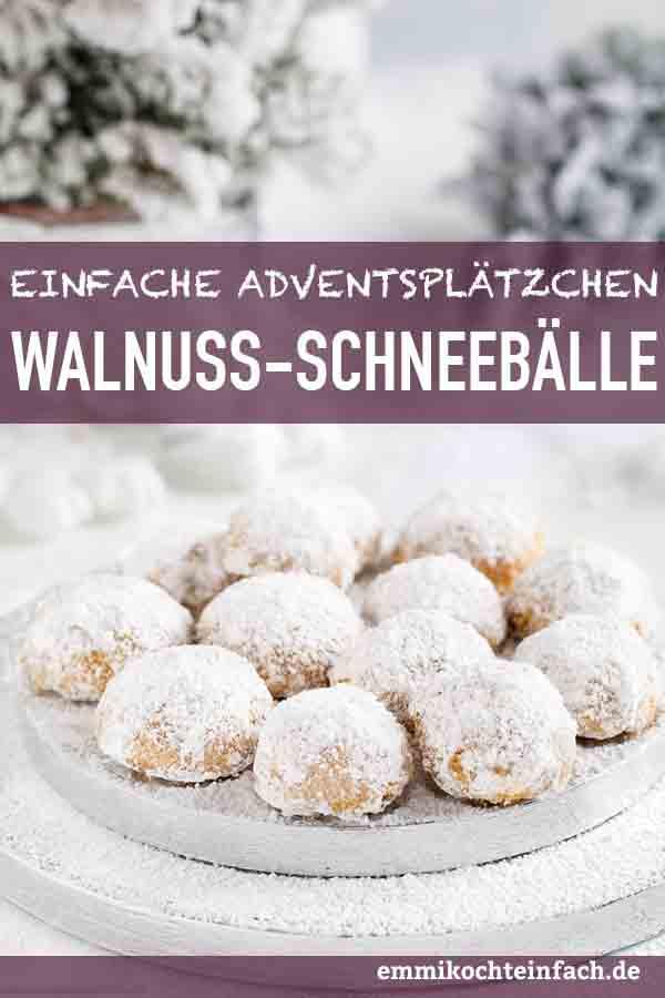 Walnuss Schneebälle - www.emmikochteinfach.de