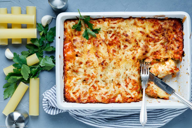 Cannelloni Mit Kräuterfrischkäse Spinat Füllung Emmikochteinfach