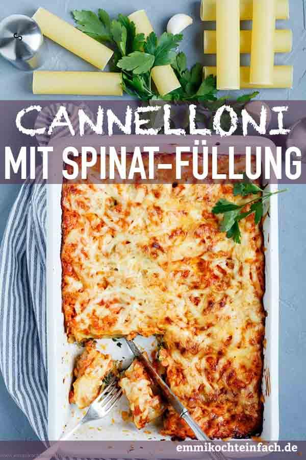 Cannelloni mit Kräuterfrischkäse-Spinat Füllung - www.emmikochteinfach.de