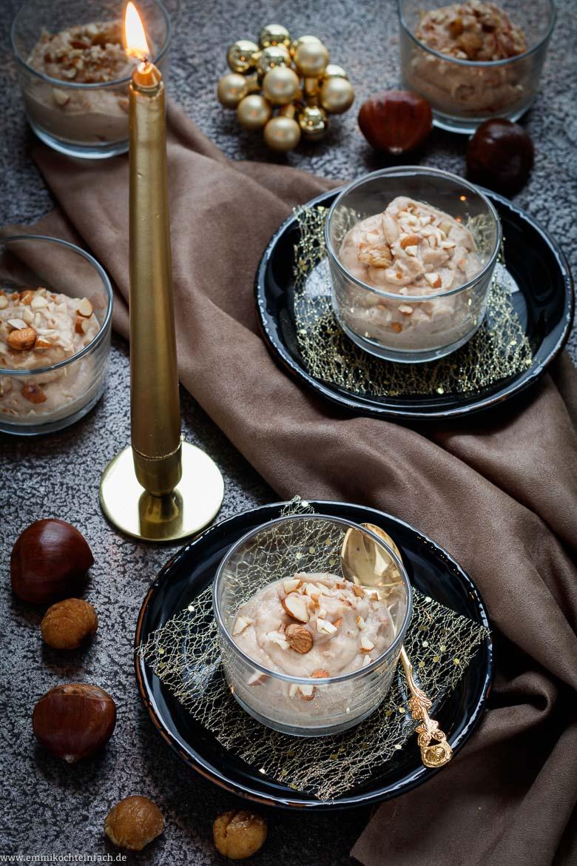 Festliches Maronen Dessert - www.emmikochteinfach.de