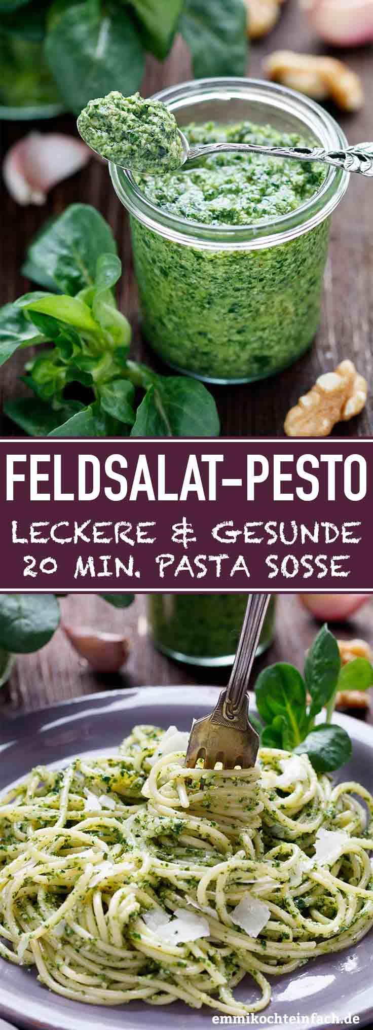 Spaghetti mit Feldsalat Pesto - www.emmikochteinfach.de